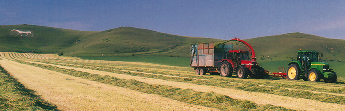 Pewsey - Silage making near Alton Barnes