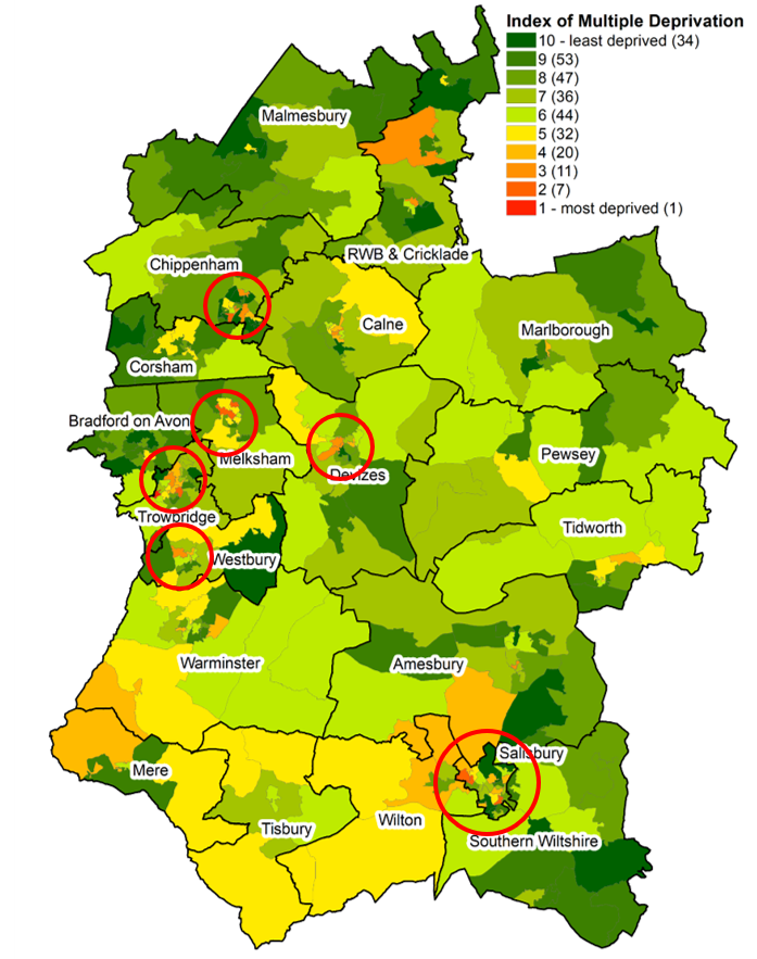 map of deprived areas