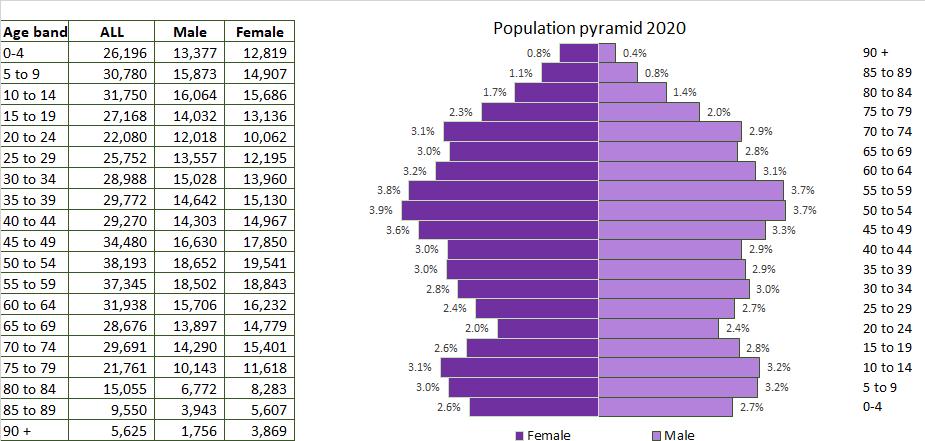 Pop pyramid 2020